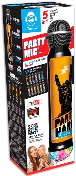 Karaoke-Mikrofon mit verschiedenen Stickern
