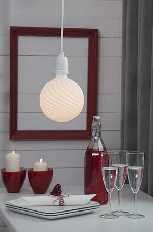 Câble de lampe avec douille blanc