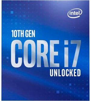 CPU Core i7-10700K 3,8 GHz