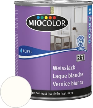 Vernice acrilica bianca satinata opaca Bianco puro 375 ml