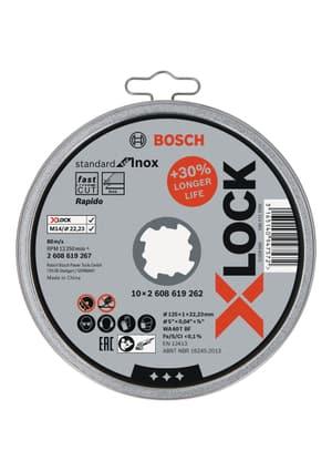 10 Stk. X-LOCK Standard for Inox 10x125x1x22,23mm