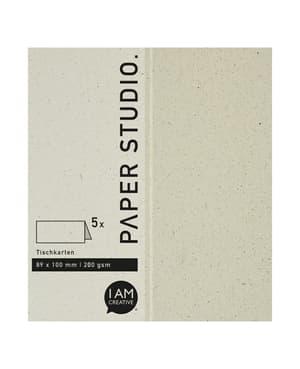 Marque-places 89 x 100 mm, papier naturel