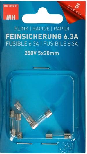 Feinsicherung Flink 6.3A 5 Stk.