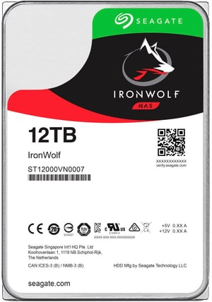 IronWolf 12TB interne Festplatte SATA 3.5""