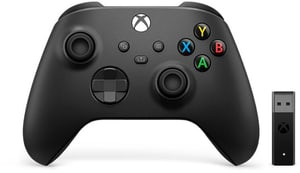 Contrôleur  Xbox Carbon Black Wirless Adapter