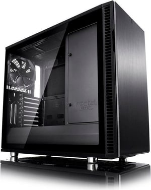 Define R6 Blackout Tempered Glass