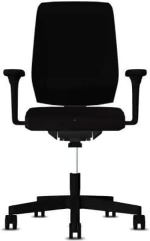 Chaise bureau 68-3519 68-3519 noir, avec accoudoir