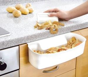 Auffangschale für Küchenabfälle weiss