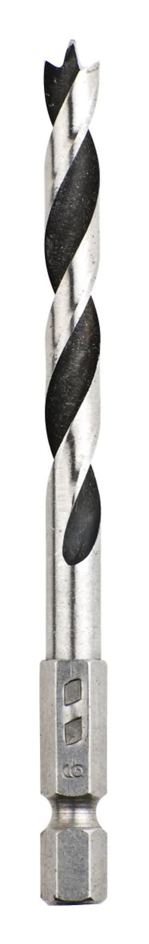 """Spiralbohrer mit Sechskantaufnahme 1/4"""", ø 6 mm"""