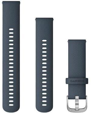 22mm Bracelet à changement rapide bleu gris avec boucle silver