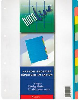 Carton registre multicolor A4 604193 12 pièces
