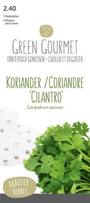Koriander 'Cilantro' 5 Saatplatten