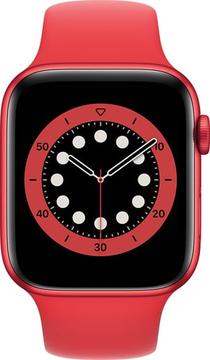 Watch Series 6 GPS 44mm Red Aluminium Red Sport Band