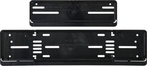 Kennzeichenhalter-Set Kunststoff lang