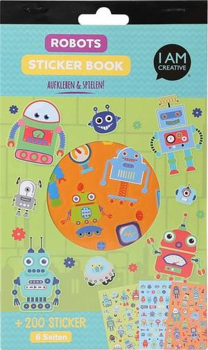 Stickerbook, Robots, 6 Blatt