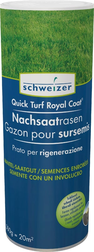 Quick - Turf Royal Coat gazon pour sursemis, 0.5 kg