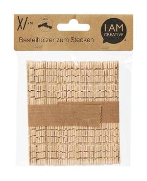 Bastelhölzer zum Stecken natur 114 x 10 mm, 50 Stk.