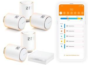 5x Smart Radiator Thermostats + Hub