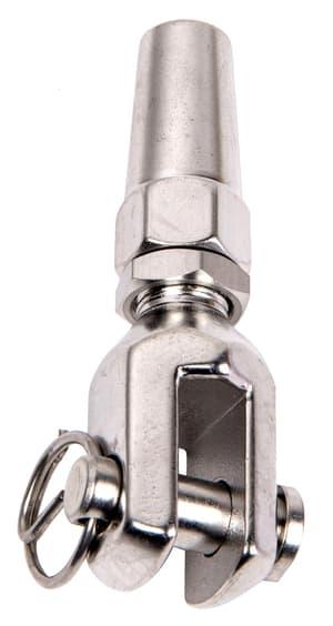 Tenditore terminale forcella fissa inossidabile per cavi d'acchiaio 4mm
