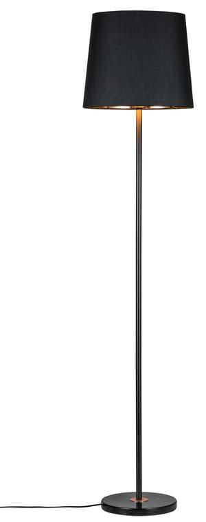 Stehleuchte Enja, Schwarz/Kupfer/Marmor