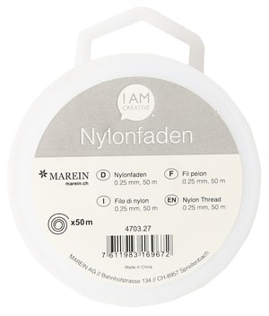 Nylonfaden, 0,25 mm, 50 m