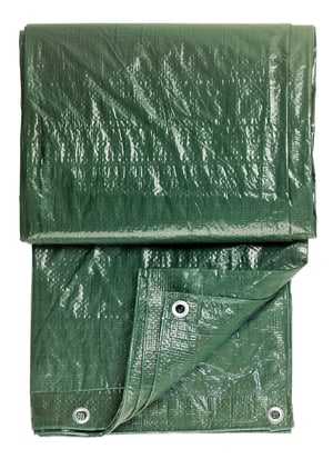 Gewebeplane grün, 2x3m mit Ösen