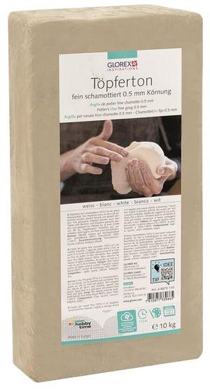 Argile de potier 10kg blanc