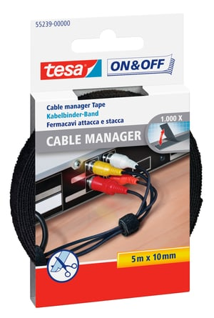 On & Off Cable Manager Universal noir