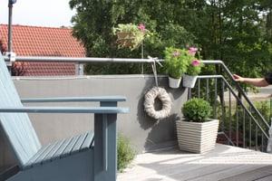 Rivestimento per balconi con effetto rattan 300 x 75 cm