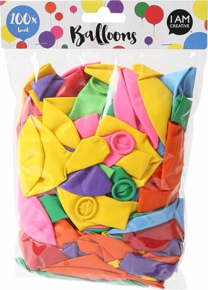 Ballons multicolore, ca. 30cm, 100 pcs.