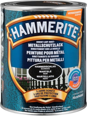 Pittura per metalli martellat nero 750 ml