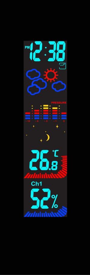 Stazione meteo wireless a colori, W185