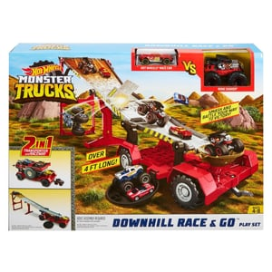 Hot Wheels Monster Trucks 2-in-1 Crashrennen-Truck