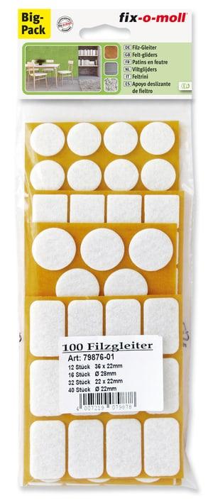 Filzgleiter Set  100 x 3 mm /  100 x
