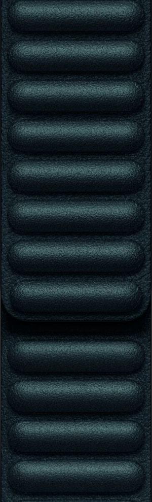 APPLE 44mm Black Leather Link L