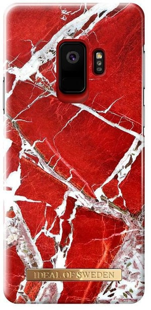 Back Cover Scarlet Red Marble