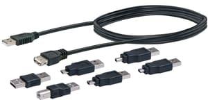 Set di USB 2.0 7pezzi nero