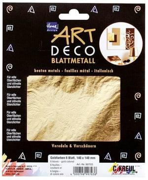 Blattmetall, Goldfarben