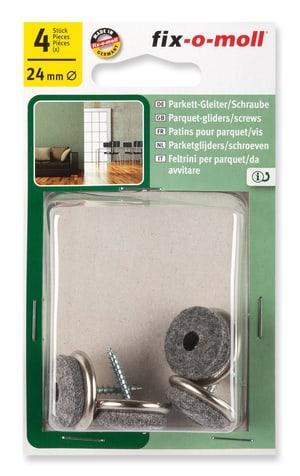 Parkettgleiter mit Schraube 5 mm / Ø 24 mm 4 x