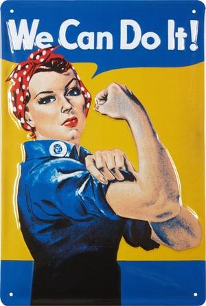 Werbe-Blechschild We Can Do It!