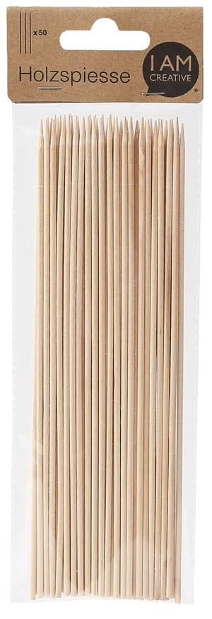 Holzspiesse, Natur, 20 x 2,5 cm, 50 Stk.