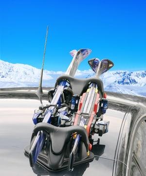 Shuttle Porte-skis magnétique