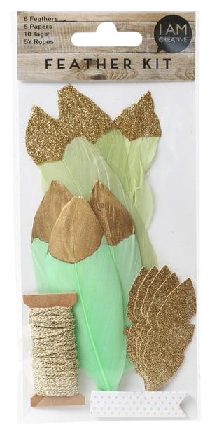 Set piuma, verde