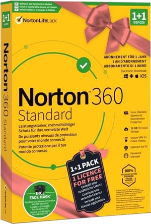 Security 360 Standard 1+1 inkl. Face Mask [PC/Mac/Android/iOS] (D/F/I)