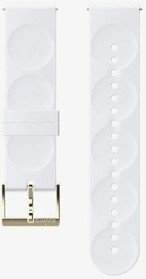 20mm Silicone Strap White/Gold S