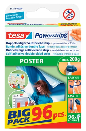 Powerstrips® POSTER Big Pack, 96 strips