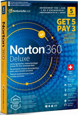 Security 360 Deluxe 50GB 5 for 3 Devices