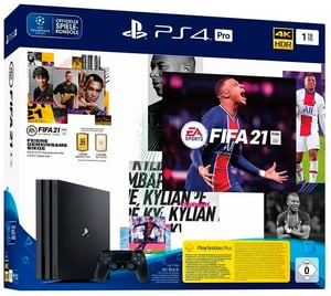 PlayStation 4 Pro 1TB Jet Black FIFA 21