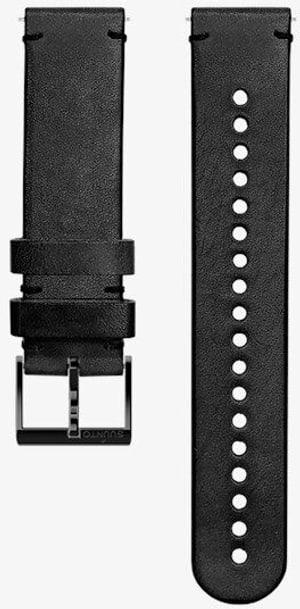 20mm Leather Strip Black/Black M