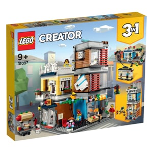 Creator 31097 Stadthaus mit Zoohandlung & Café